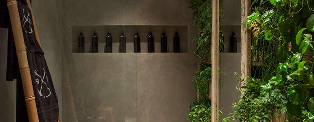 Baños de estilo ecléctico por Gabriela Pereira