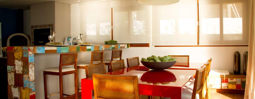 Comedores de estilo rústico por Espaço do Traço arquitetura