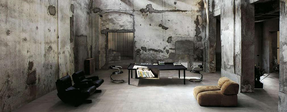 Collezione REVSTONE: Pareti & Pavimenti in stile in stile Industriale di Ceramica Sant'Agostino