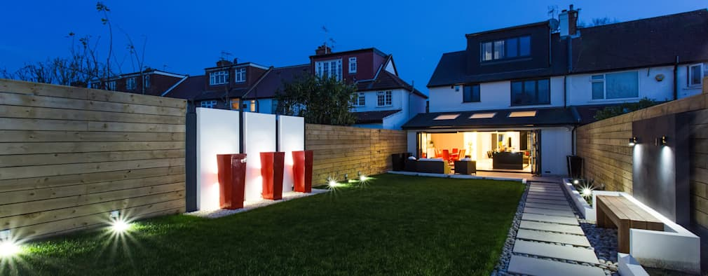 House Exterior Lighting Ideas. Night Time In The Garden By Gk Architects  Ltd House Exterior
