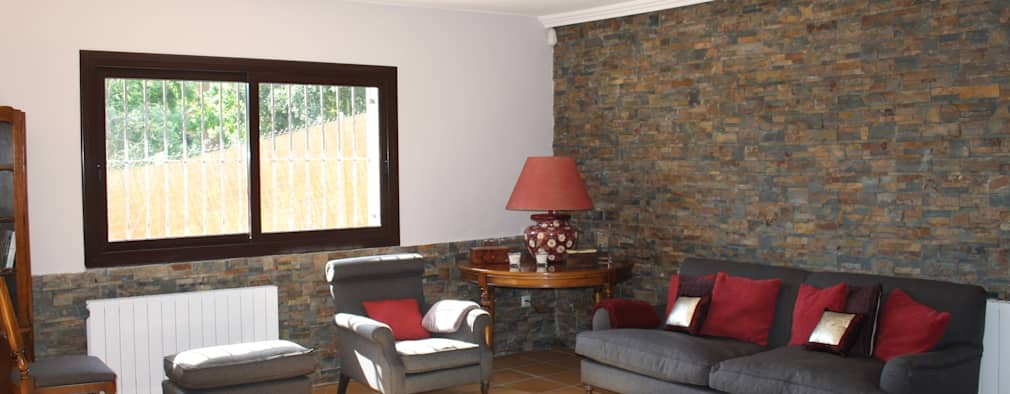 rustic Living room by ROIMO INTEGRAL GRUP