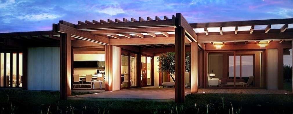 Render 3d Di Una Vista Esterna: Case In Stile In Stile Moderno Di 3dforme