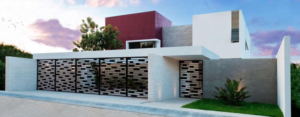 Portones elementos de una fachada for Fachada de casas modernas con porton