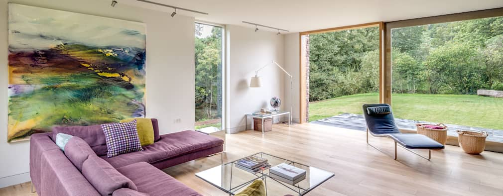 Livings de estilo moderno por Hall + Bednarczyk Architects