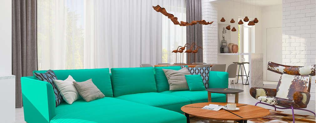 minimalistic Living room by Samarina projects
