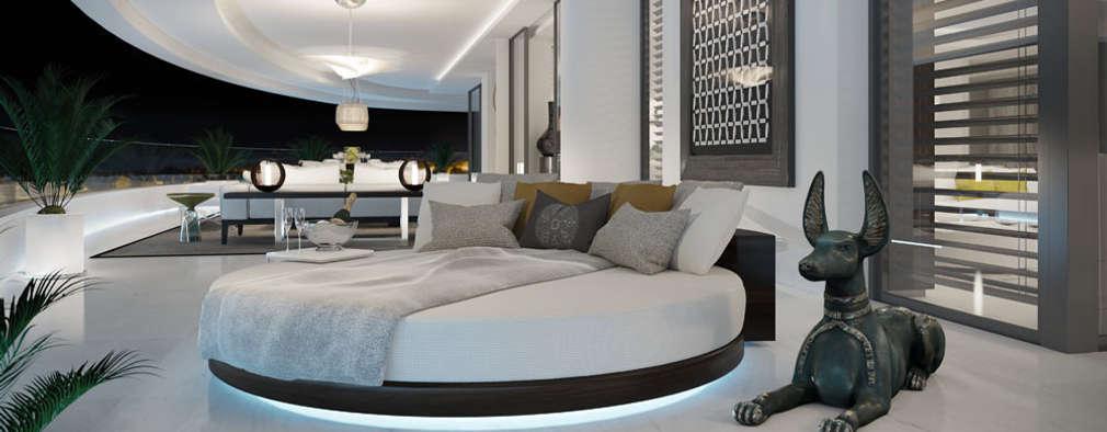 moderne Schlafzimmer von care4home