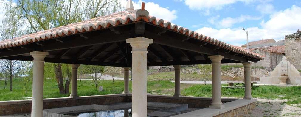 Jardines de estilo  por CUTECMA Estructuras de madera