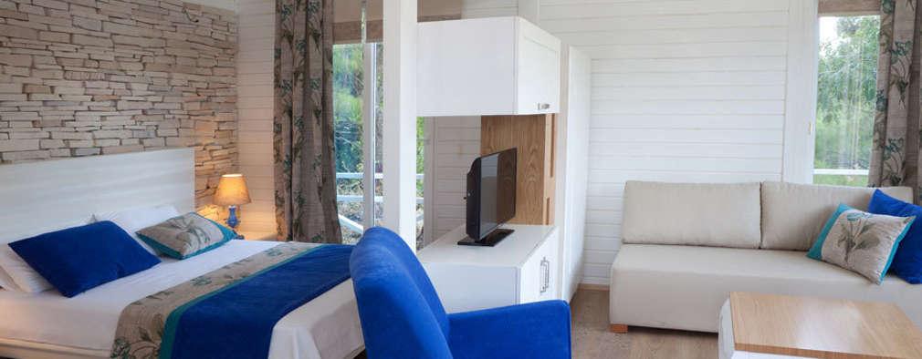 Dormitorios de estilo moderno por SAKLI GÖL EVLERİ