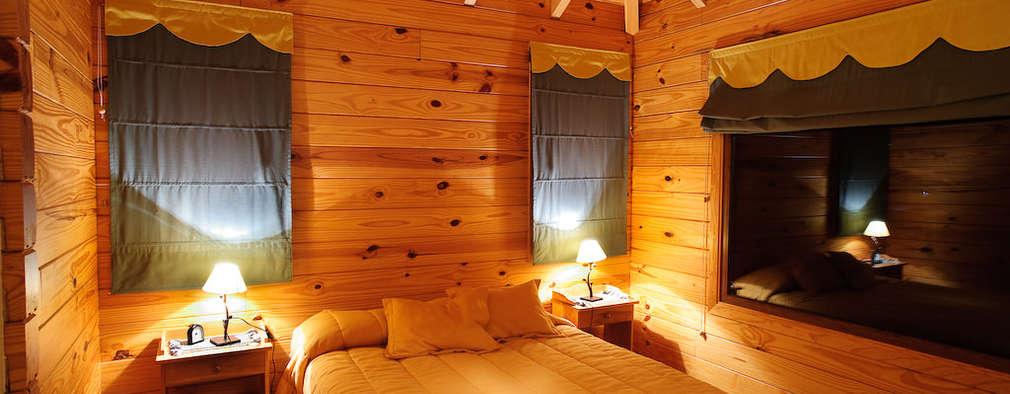 臥室 by Patagonia Log Homes