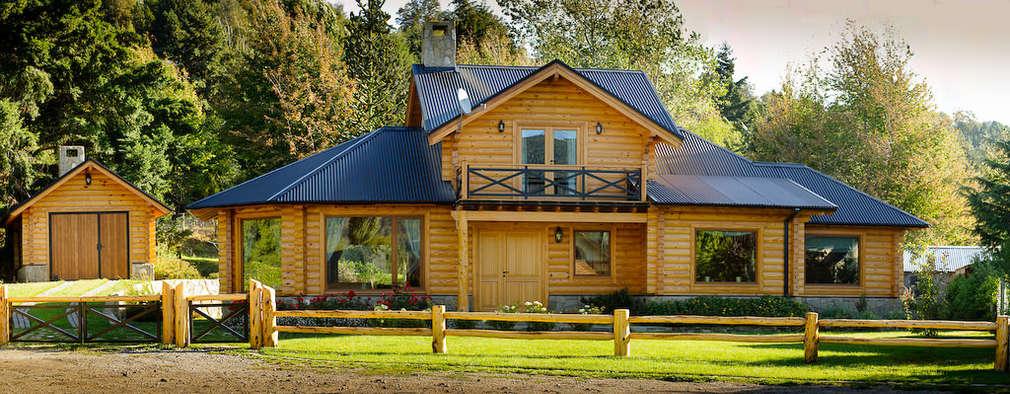 Projekty, wiejskie Domy zaprojektowane przez Patagonia Log Homes