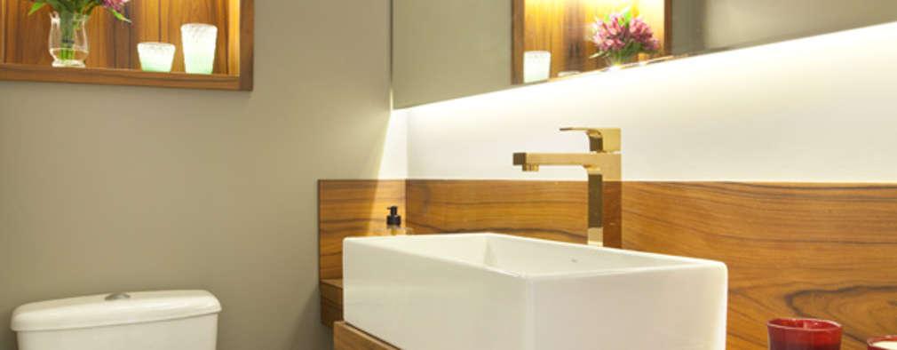 modern Bathroom by Liliana Zenaro Interiores