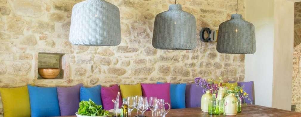 rustic Dining room by Marcello Gavioli