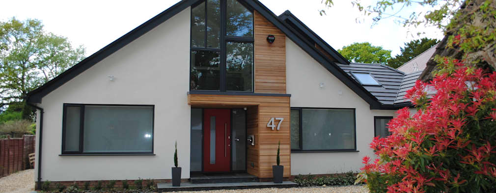 Projekty, nowoczesne Domy zaprojektowane przez LA Hally Architect