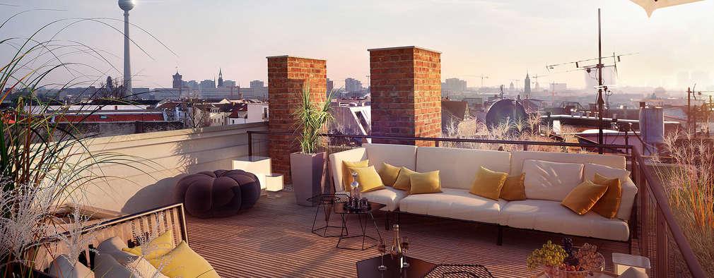 Terrasse de style  par loomilux
