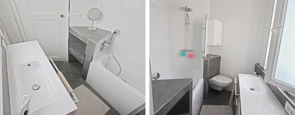 Projekty,  Łazienka zaprojektowane przez les bains et les cuisines d'Alexandre