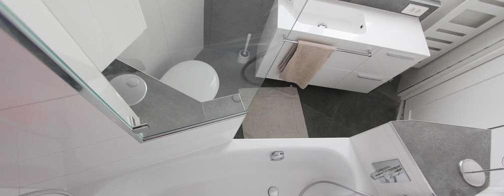 Voor en Na: een nieuwe badkamer in een vijfhoekige ruimte