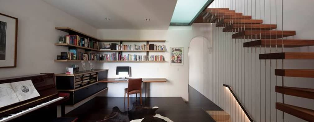 modern Study/office by Sam Crawford Architects
