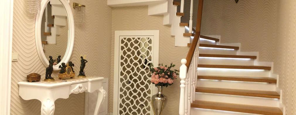 Corredores, halls e escadas modernos por HEBART MİMARLIK DEKORASYON HZMT.LTD.ŞTİ.