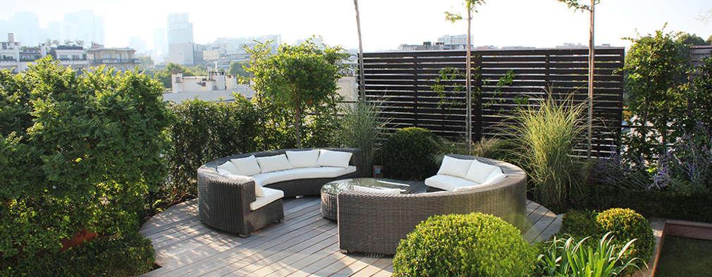 un jardin suspendu toiture plate de style par fiorellino paysagiste
