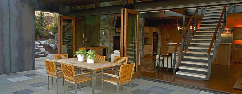 10 cocinas exteriores perfectas en casas modernas for Cocinas en terrazas