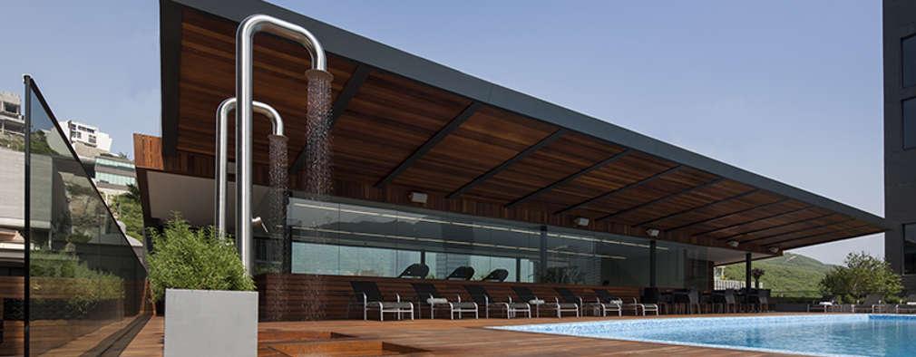 Magma Towers: Albercas de estilo moderno por GLR Arquitectos