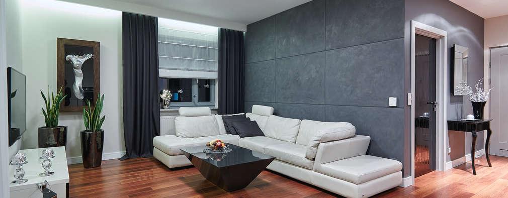 APARTAMET W SZCZECINIE: styl , w kategorii Salon zaprojektowany przez ARCHINSIDE STUDIO KATARZYNA PARZYMIES