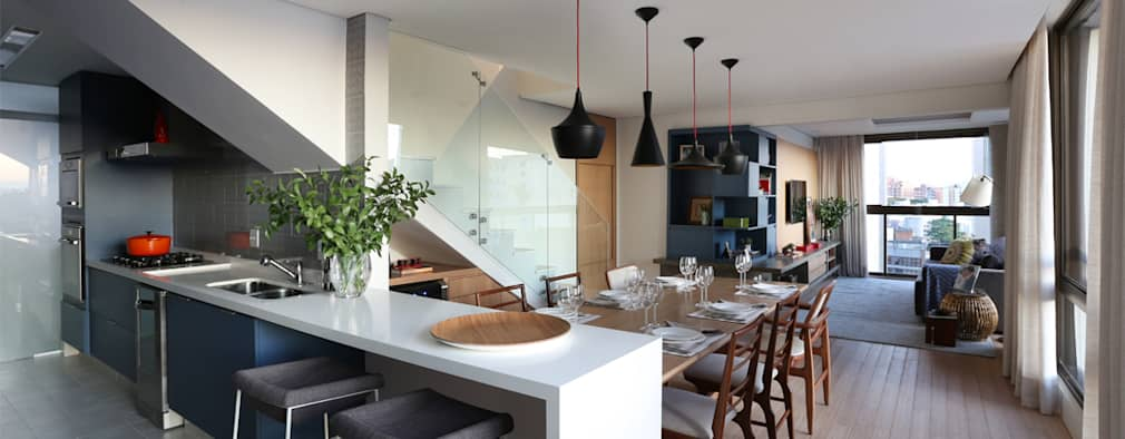 modern Dining room by MANDRIL ARQUITETURA E INTERIORES