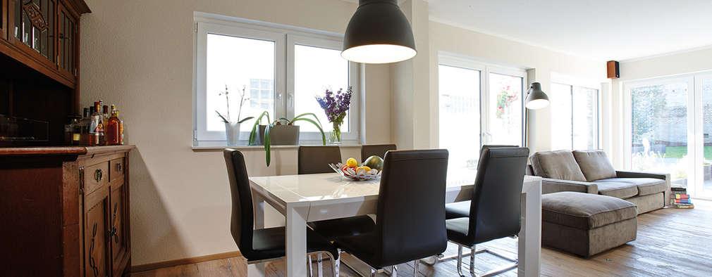minimalistic Dining room by FingerHaus GmbH