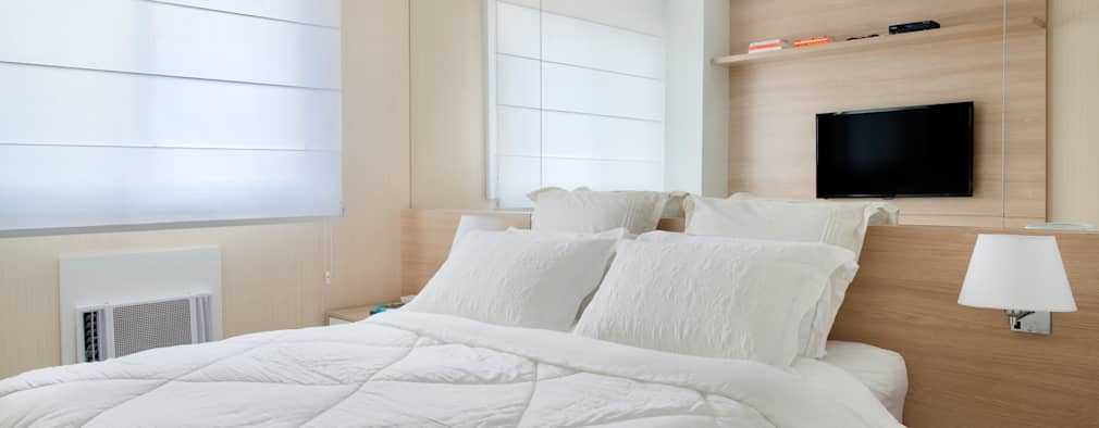 Carolina Mendonça Projetos de Arquitetura e Interiores LTDA: modern tarz Yatak Odası