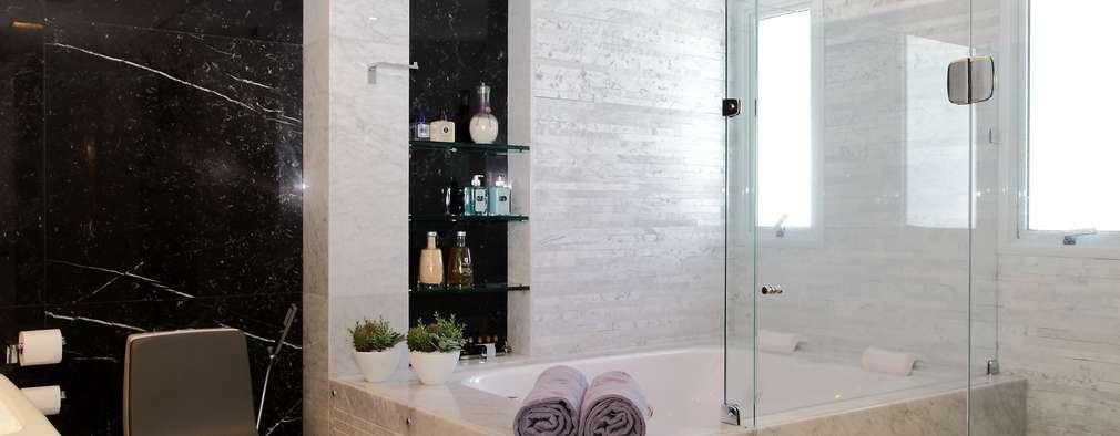 Baños de estilo moderno por ROMERO DUARTE & ARQUITETOS