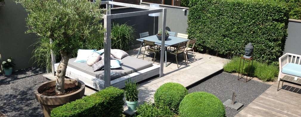 Moderne tuin Hoofddorp: moderne Tuin door Biesot