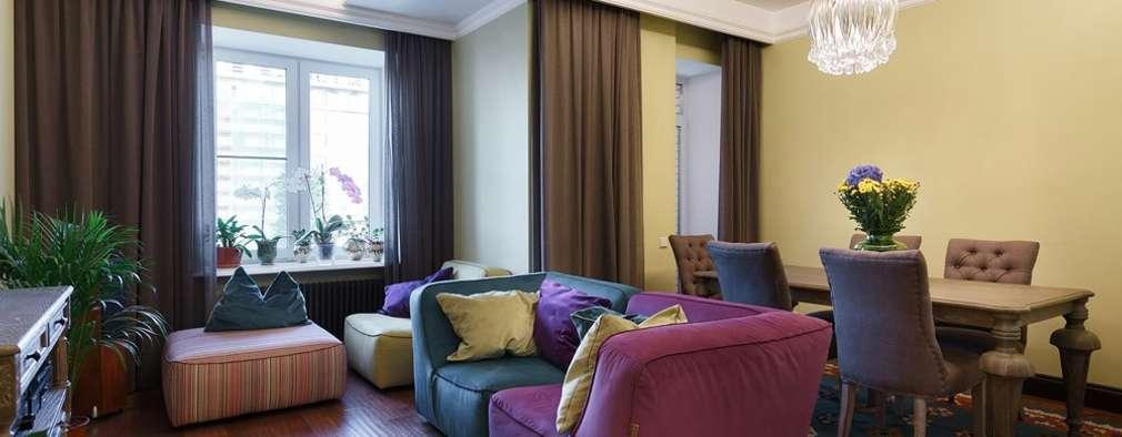 colonial Living room by Ольга Кулекина - New Interior
