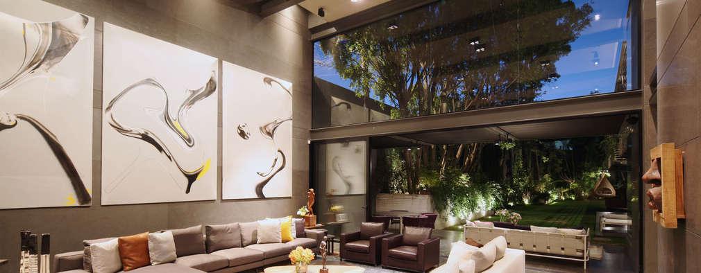 15 buenas ideas para decorar paredes de doble altura - Libros de decoracion de interiores gratis ...