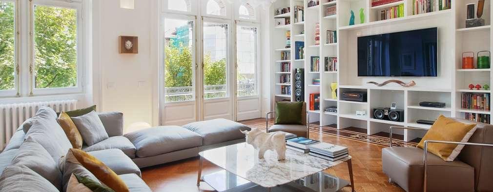 6 appartamenti che combinano stile moderno e classico for Case in stile moderno