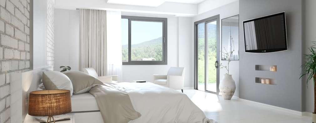 ROAS ARCHITECTURE 3D DESIGN – Bedroom View: modern tarz Yatak Odası