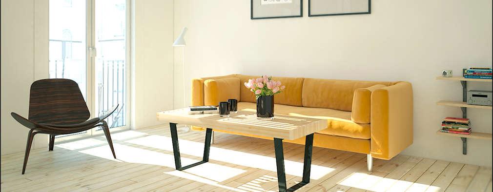 Vivienda: Salones de estilo minimalista de DECLASE