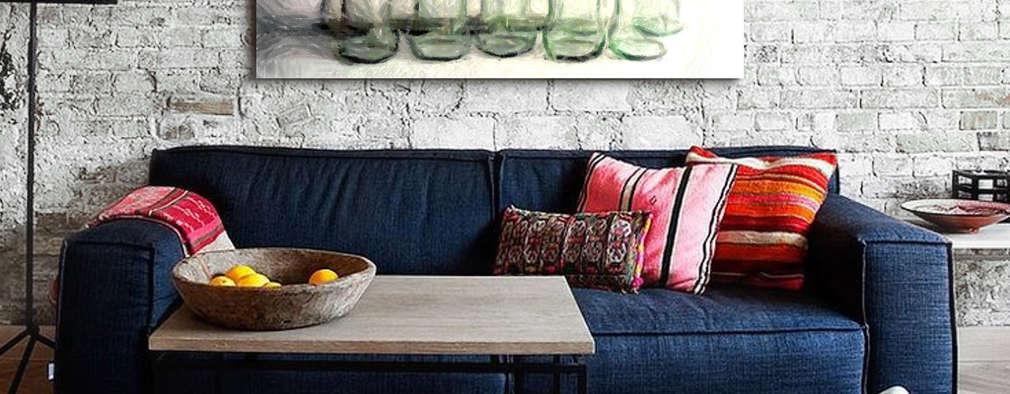 industrial Living room by ESTUDIO DELIER