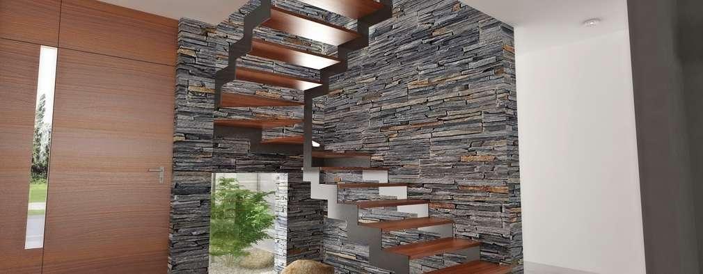 7 escaleras fant sticas perfectas para casas modernas - Como hacer el color gris piedra ...