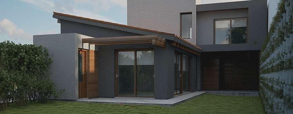 Modernes haus mit cooler einrichtung for Modernes haus mit holzfenster