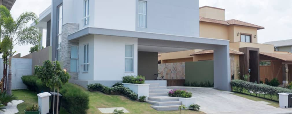 Casas de estilo moderno por POCHE ARQUITETURA