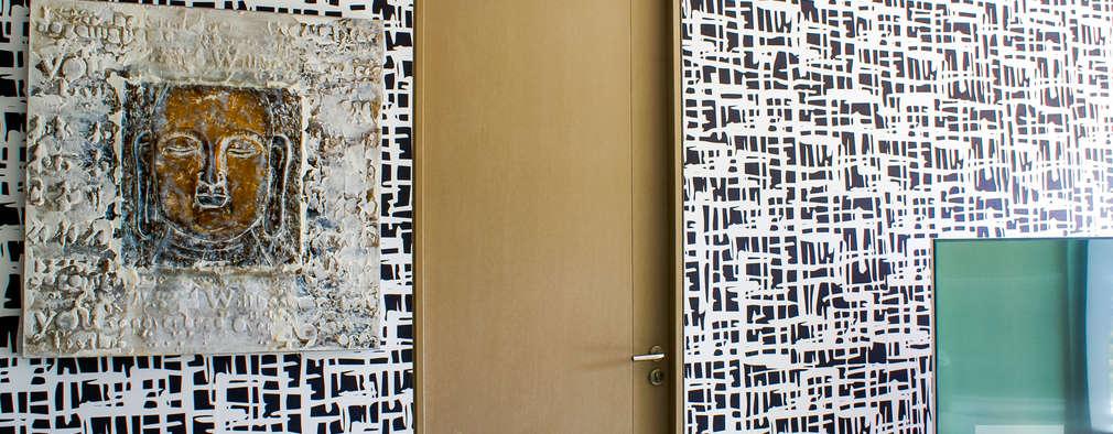 Salas / recibidores de estilo moderno por Ambientes con Arte