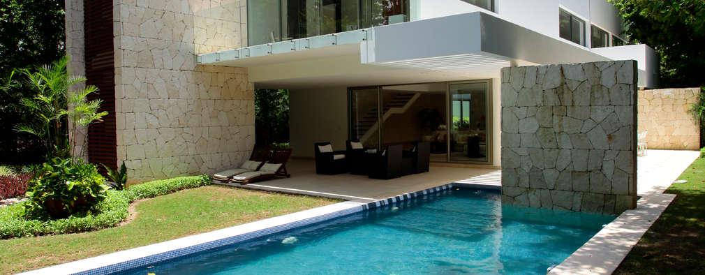 Piscinas de estilo moderno por Enrique Cabrera Arquitecto