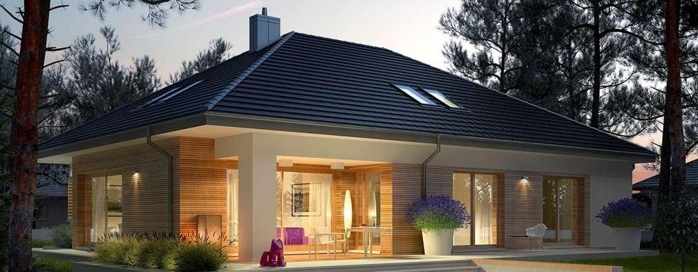 una moderna casa prefabbricata costruita con