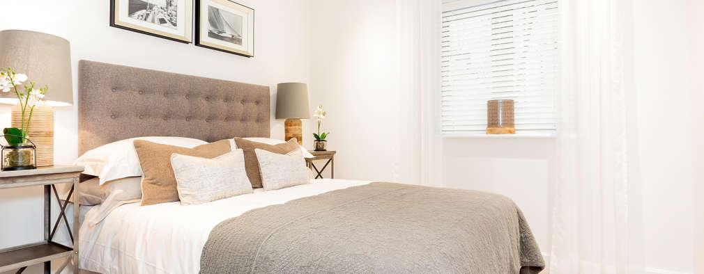 غرفة نوم تنفيذ WN Interiors of Poole in Dorset