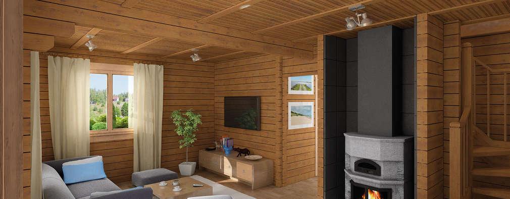 Дома в . Автор – THULE Blockhaus GmbH