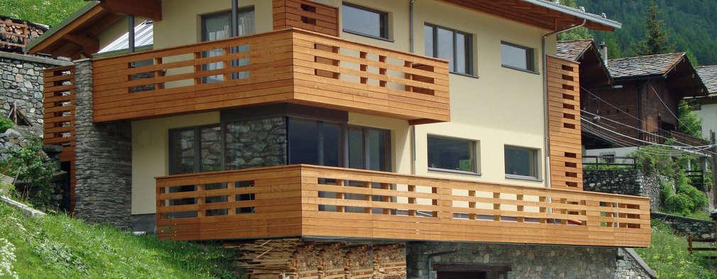 Casas de estilo moderno por Eddy Cretaz Architetttura