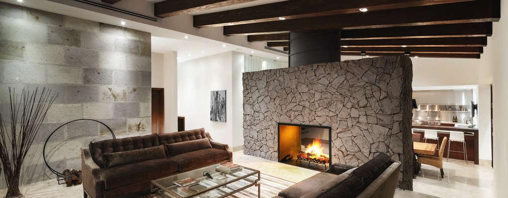 Livings de estilo moderno por Juan Luis Fernández Arquitecto