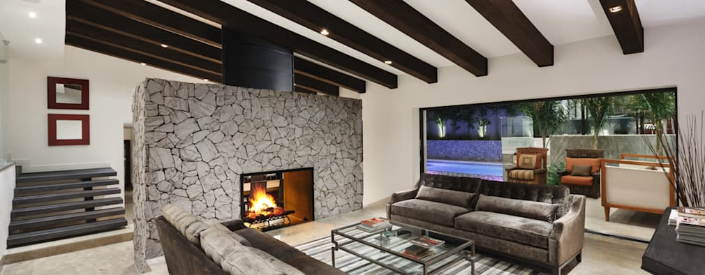10 ideas para revestir con piedra las paredes de tu sala for Comedores circulares modernos