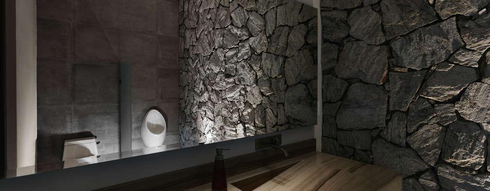 Baños de estilo moderno por Juan Luis Fernández Arquitecto