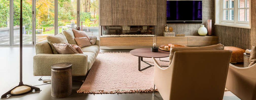 modern Living room by Design Gietvloer